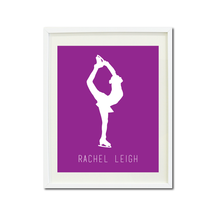 700x700 Figure Skating Silhouette Art Print With Name For Girls Shop