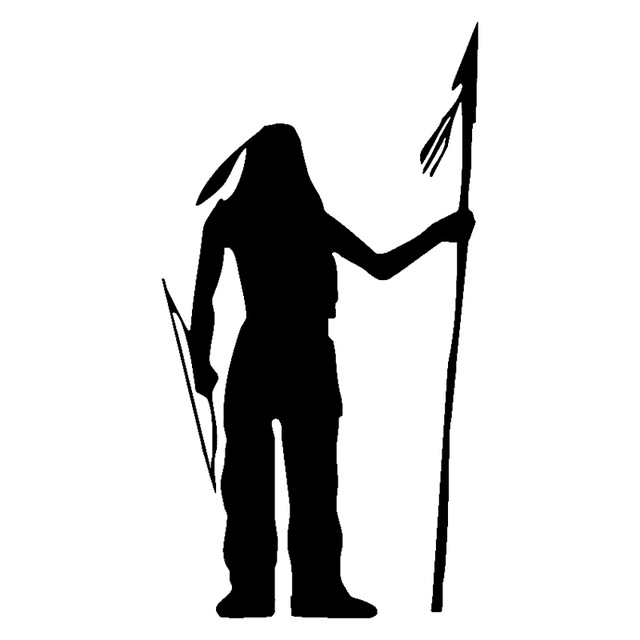 640x640 9.7cm18.2cm Native American Soldier Car Styling Vinyl Stickers