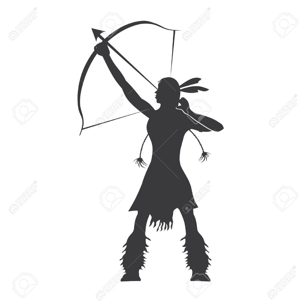 1300x1300 Gallery American Indian Silhouette,