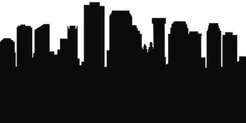 480x240 New Orleans, Louisiana Skyline Silhouette Cityscape Purses