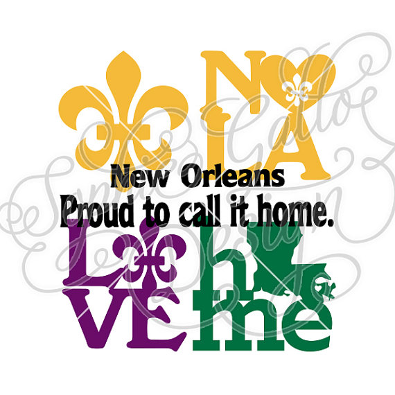 570x570 New Orleans Louisiana Love Svg Dxf Png Digital Download Files