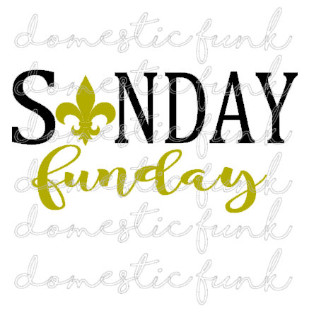 437x439 Sunday Funday New Orleans Saints Svg Png Silhouette Studio