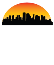 190x228 Sunset Skyline Silhouette Of New Orleans La By Awesome Shirts