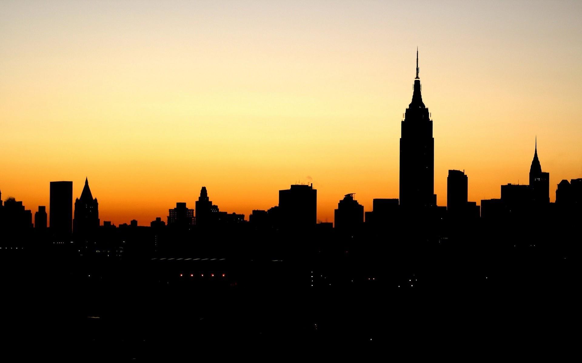 1920x1200 Empire State Building Silhouette New York Manhattan