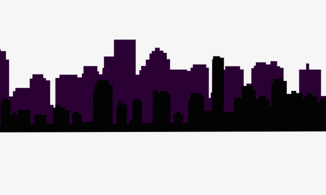 650x390 Silhouette Of City Building, City, Building Silhouette, Night View