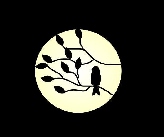 529x442 Bird Silhouette Night By Stareyes13 Silhouettes Bird Silhouettes