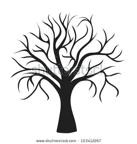 450x470 Oak Tree Outline Oak Tree Silhouette Free Oak Tree Silhouette Clip