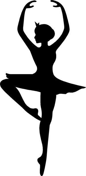 300x613 Ballerina Silhouette Ballerina Silhouette Decal Ballerina