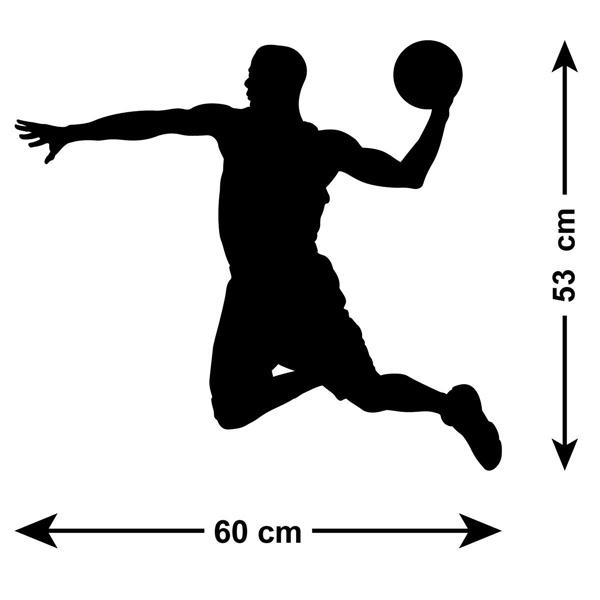 600x600 Basketball Wall Sticker