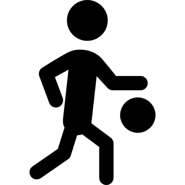 626x626 Basketball Player Silhouette With The Ball Icons Free Download