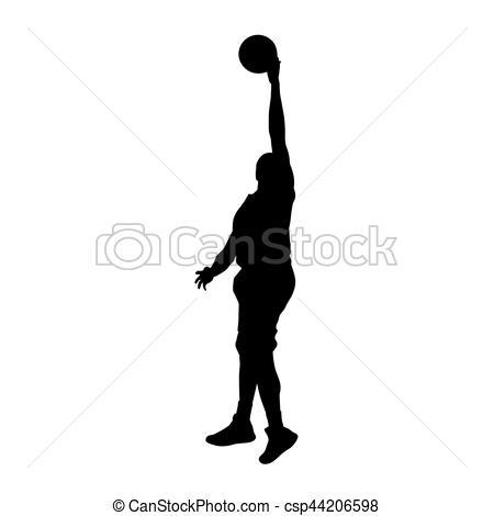 450x470 Basketball Player Vector Silhouette Eps Vectors