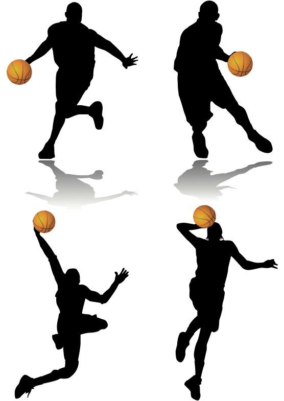 556x785 Dunk Basketball Player Silhouette Clipart