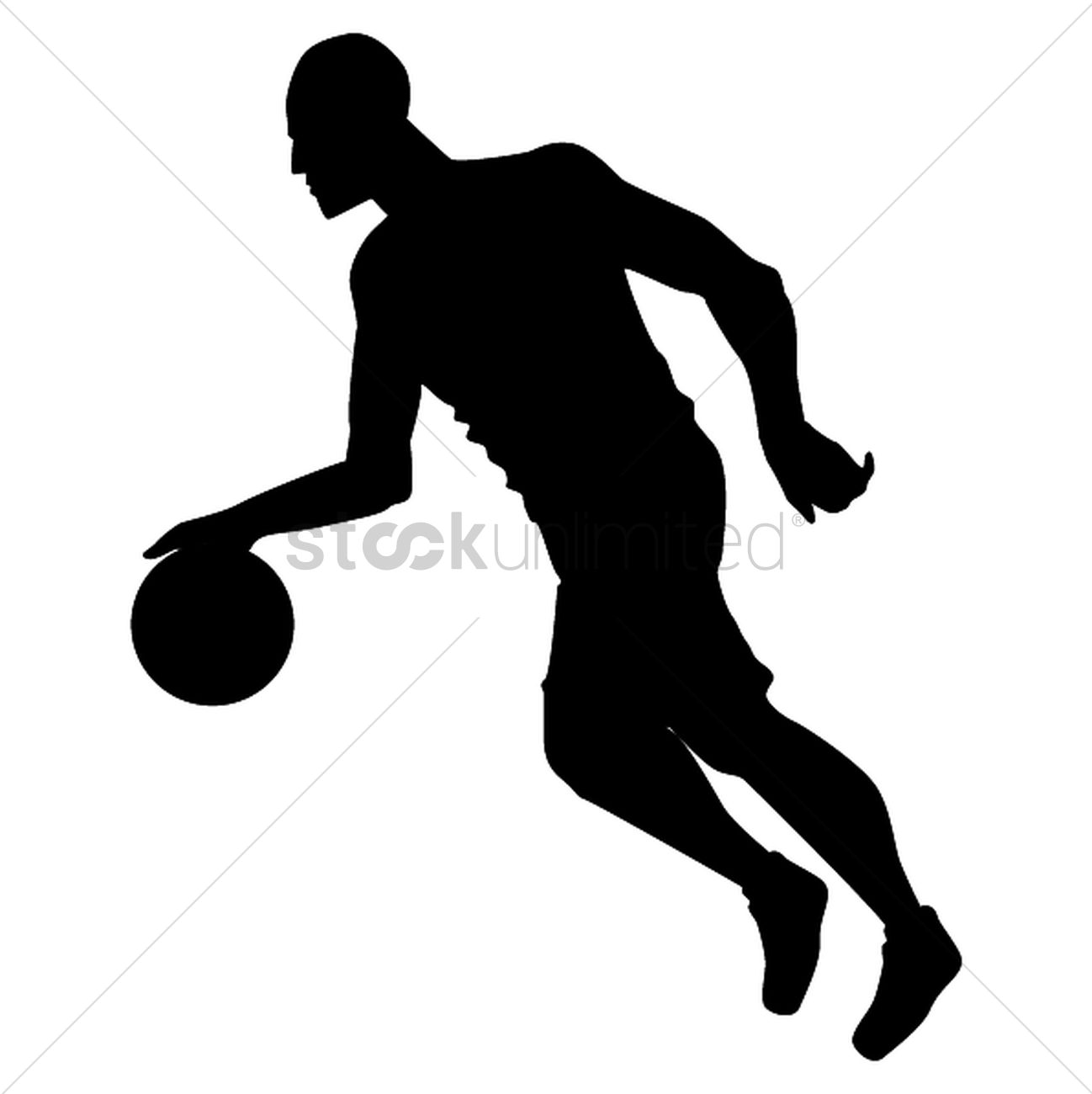 1298x1300 Silhouette Of Basketball Player Vector Image