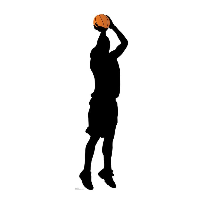 700x700 Advanced Graphics Basketball Player Shooting Silhouette Standup