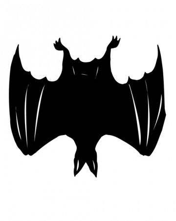 360x450 Spooky Silhouettes Bat Pumpkin Bat Template, Bat Silhouette