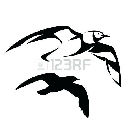 450x450 Bird Outline Flying Seagull Vector Design Black And White Bird