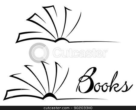 450x364 Open Book Outline Clip Art