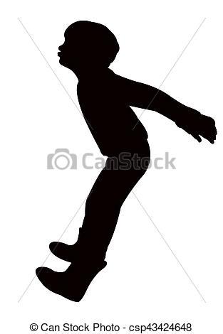 313x470 A Boy Silhouette Drawing