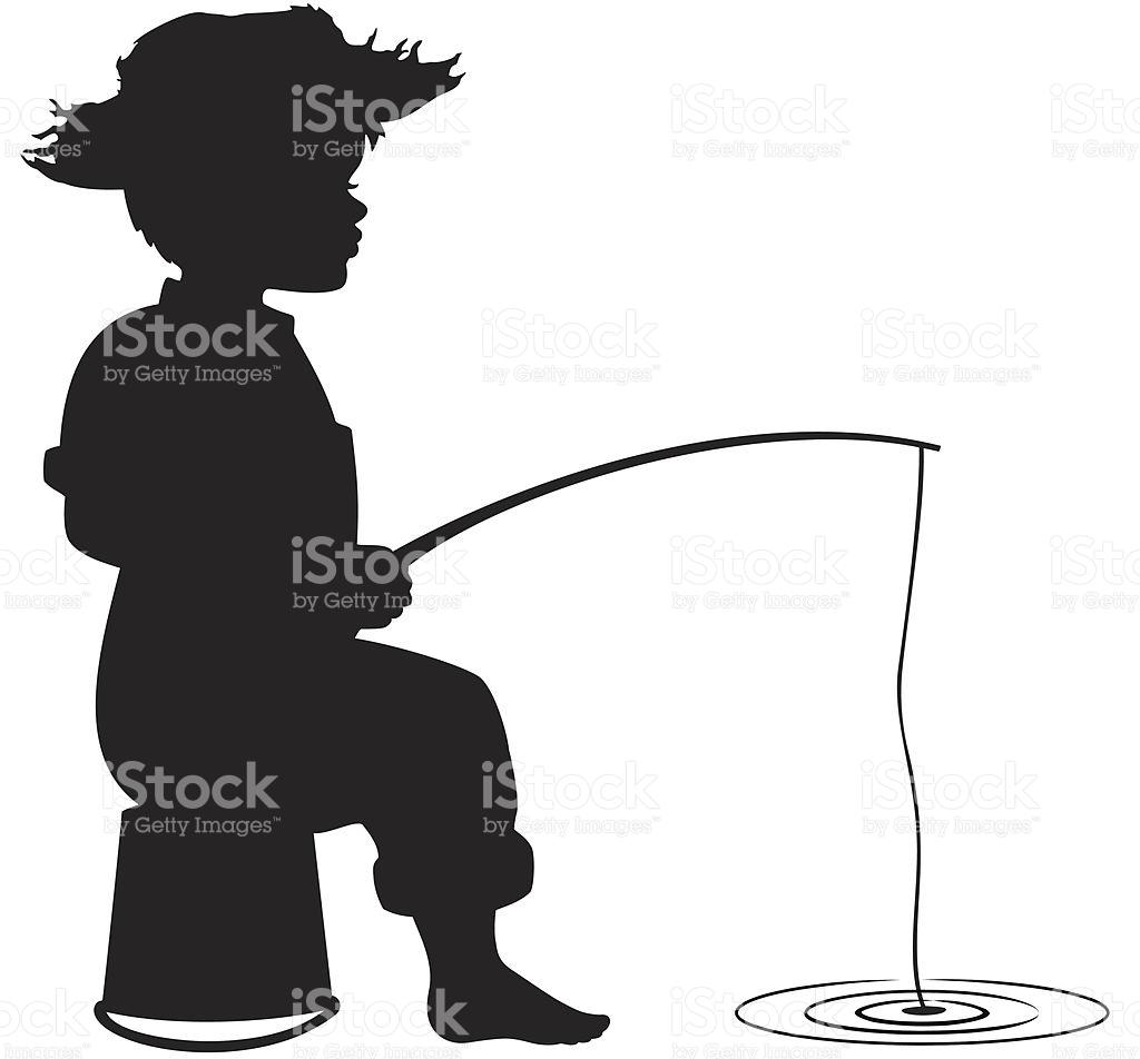 1024x952 Boy Fishing Clipart Silhouette