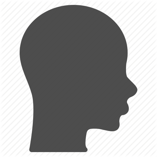 512x512 Brain, Face, Head, Human, Patient Head, Profile, Silhouette Icon