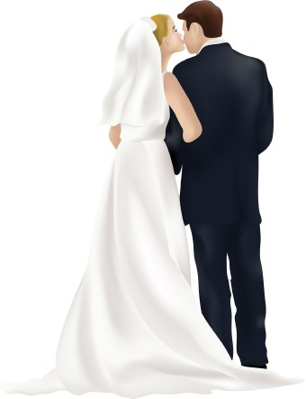 340x442 Bride And Groom Clipart Image Silhouette Of A Bride And Groom