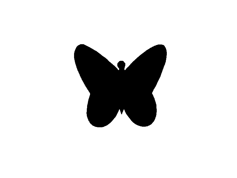 800x600 Silhouette Butterfly No.3 On Luulla