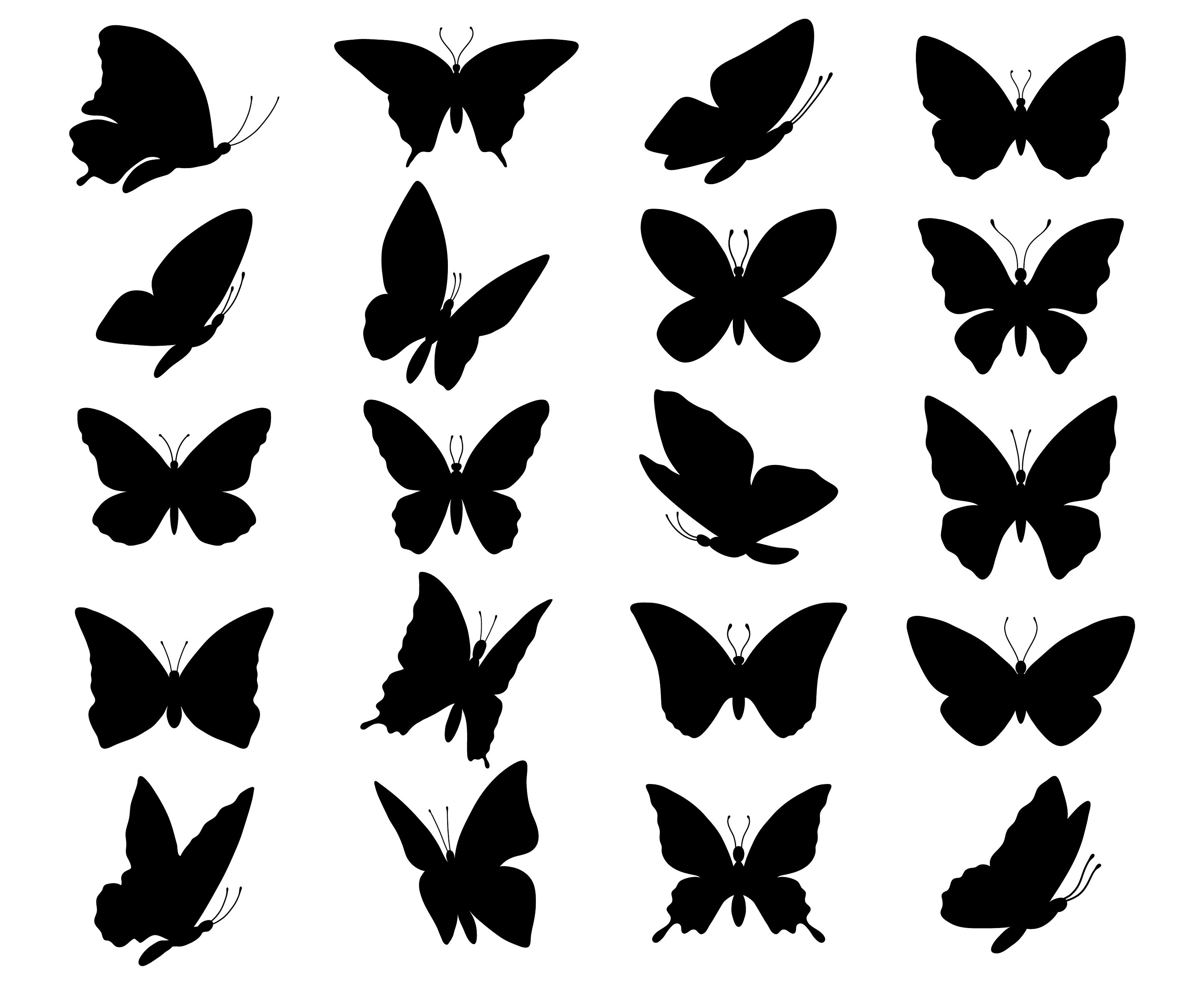 3000x2455 Butterfly Svg Butterfly Clipart Butterfly Silhouette