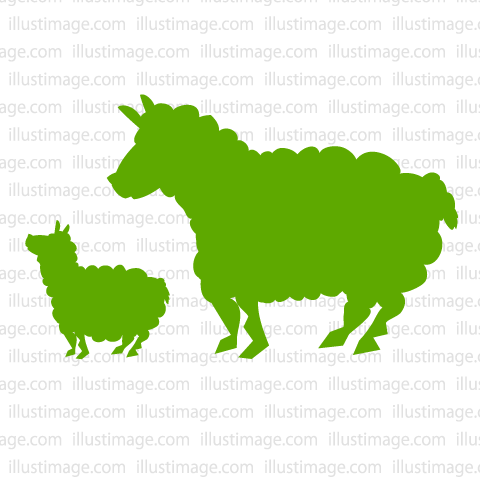 480x480 Free Parent Child Sheep Silhouette Cartoon Amp Clipart