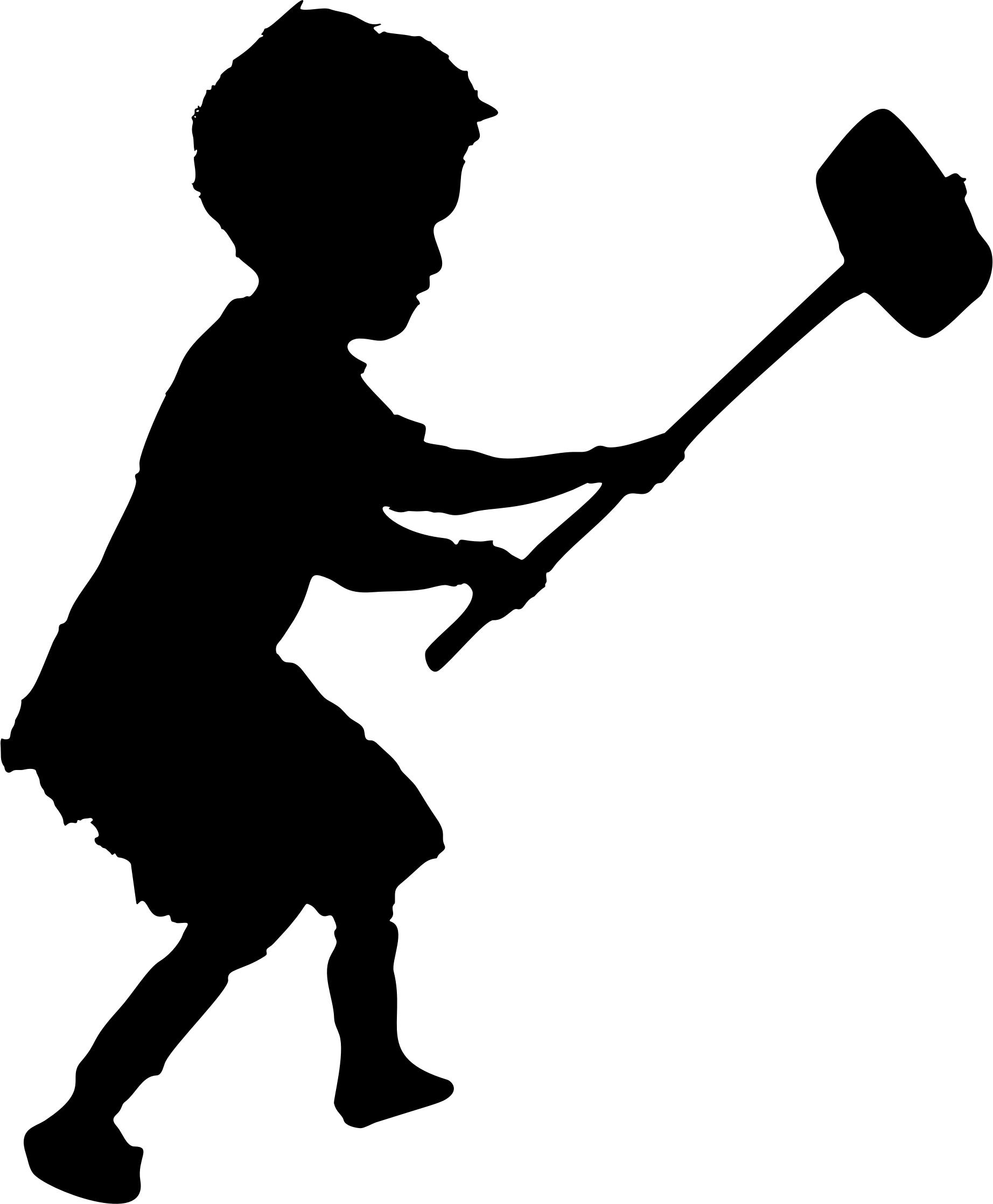 1844x2236 Banksy Child Sledgehammer Silhouette Icons Png