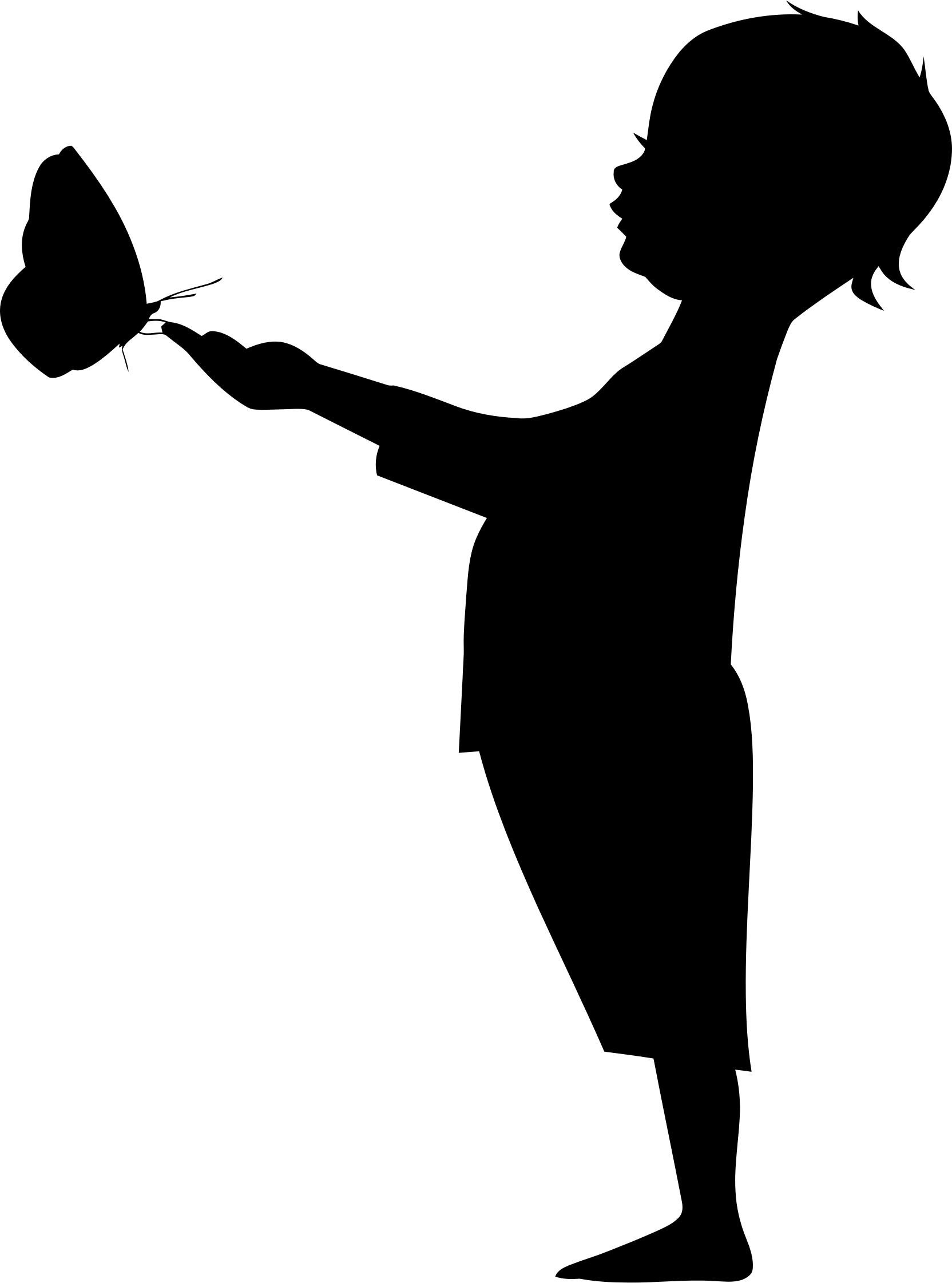 1664x2242 Child Holding Butterfly Silhouette Icons Png