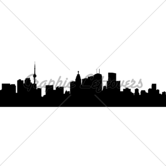 325x325 Toronto Skyline Silhouette Gl Stock Images