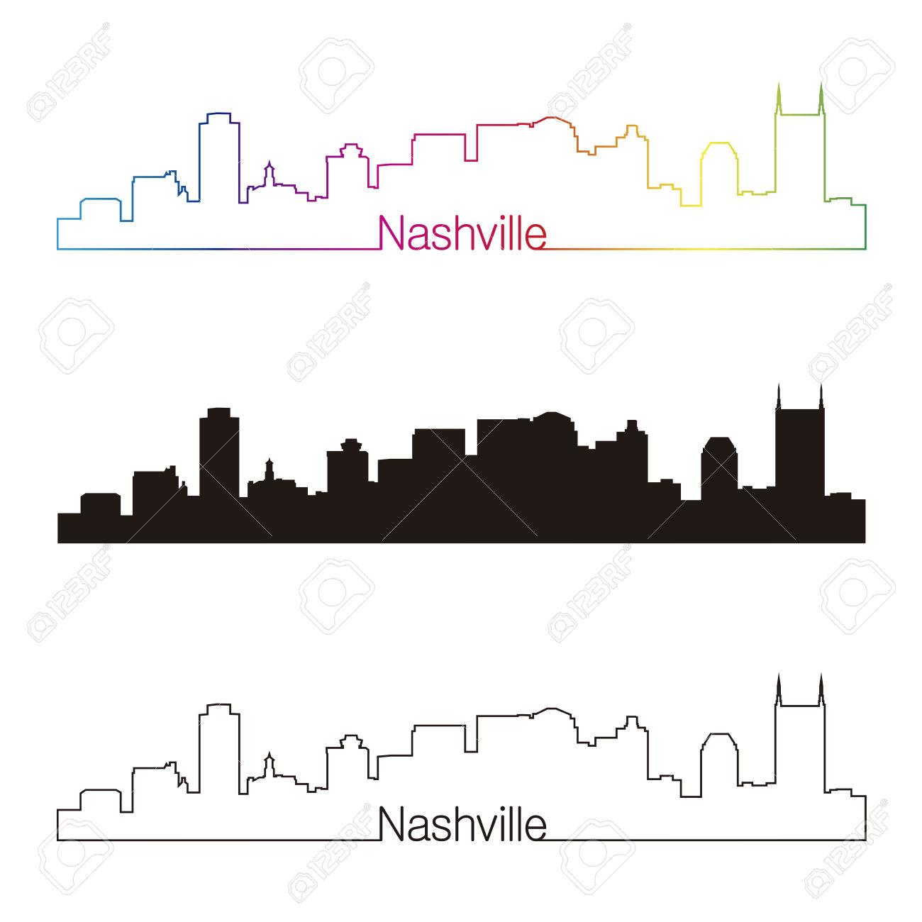 1300x1300 Nashville Skyline Silhouette