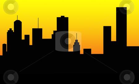 450x272 City Skyline Silhouette Stock Photo