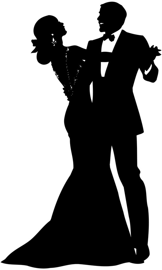 a7ccd86aa2 550x917 Dance Couple Clipart Silhouette Transparent