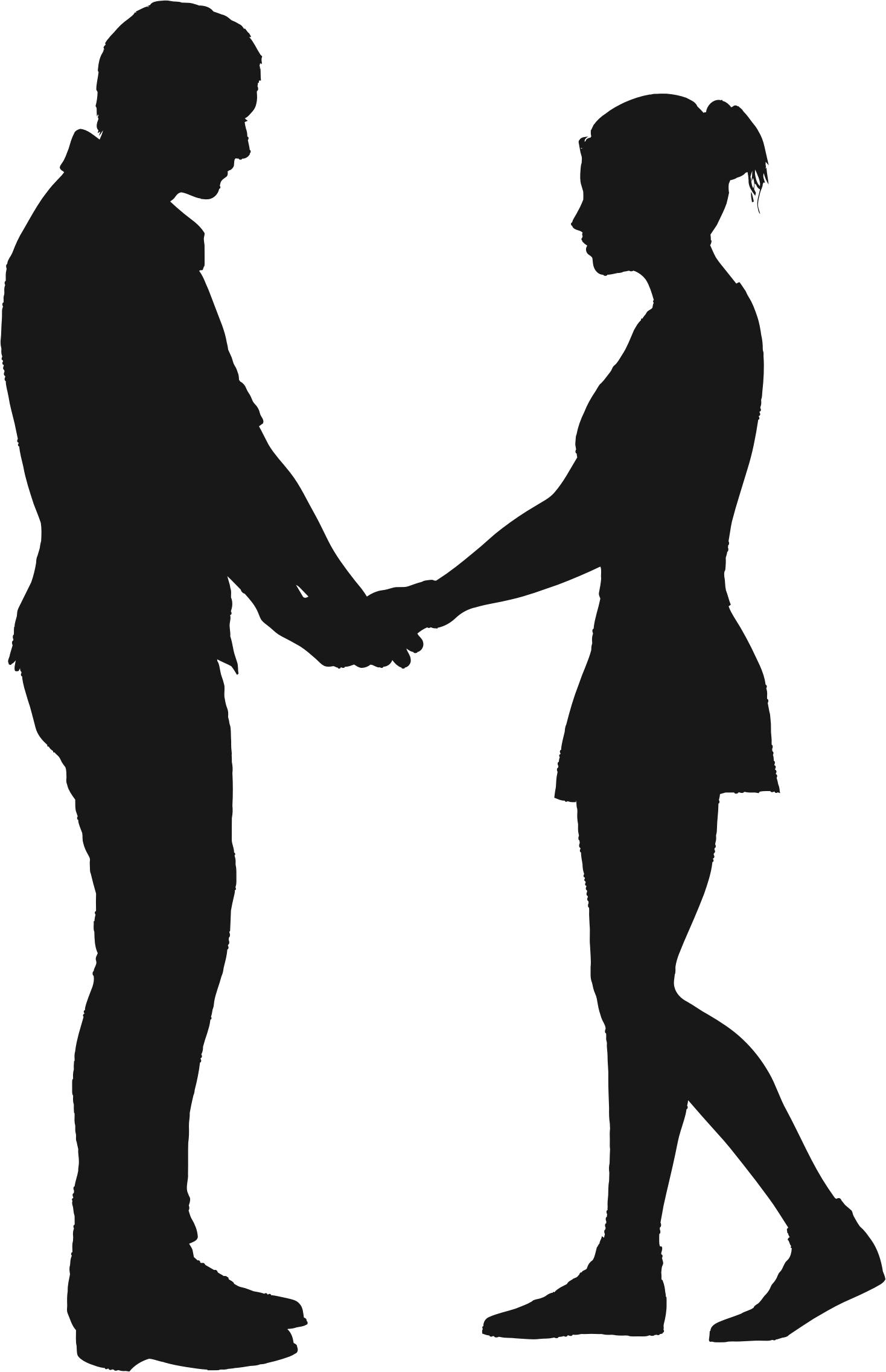 1468x2272 Couple Silhouette 6 Icons Png