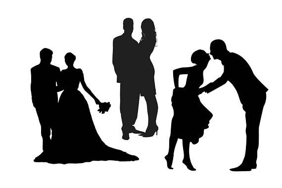 570x380 Couple Silhouette, Couple Clipart, Wedding Couple, Kissing Couple