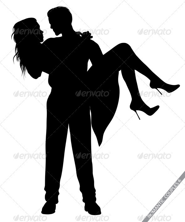 590x708 Romantic Couple Silhouettes By Illustrart Graphicriver