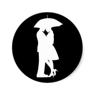 324x324 Romantic Silhouette Couple Craft Supplies Zazzle
