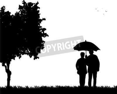400x320 Vector Of Lovely Retired Elderly Couple