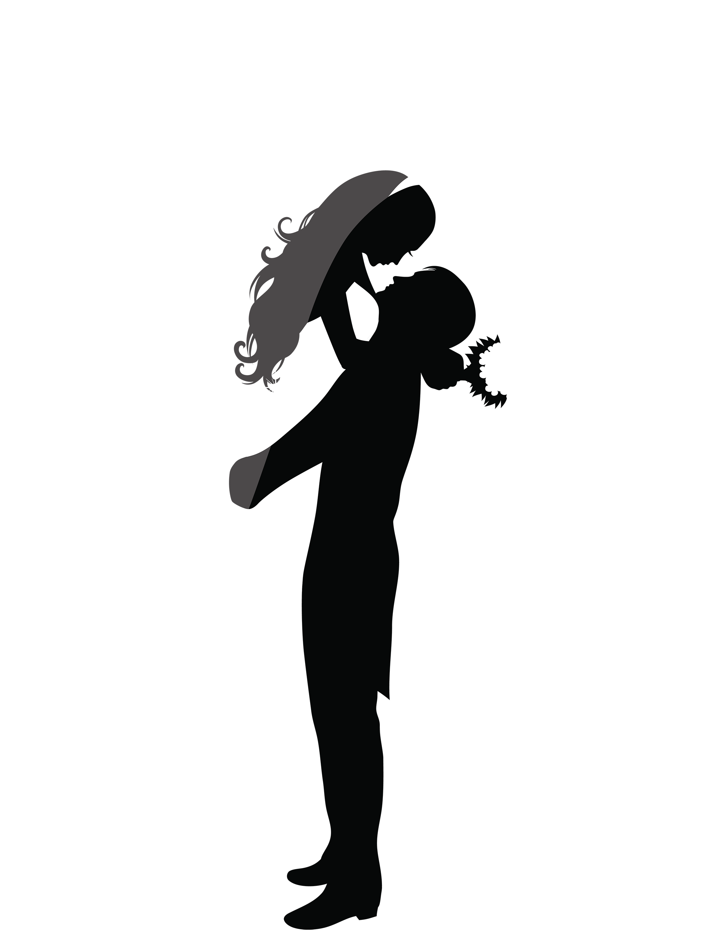 2283x3000 Silhouette Couple Kissing Wedding Clipart