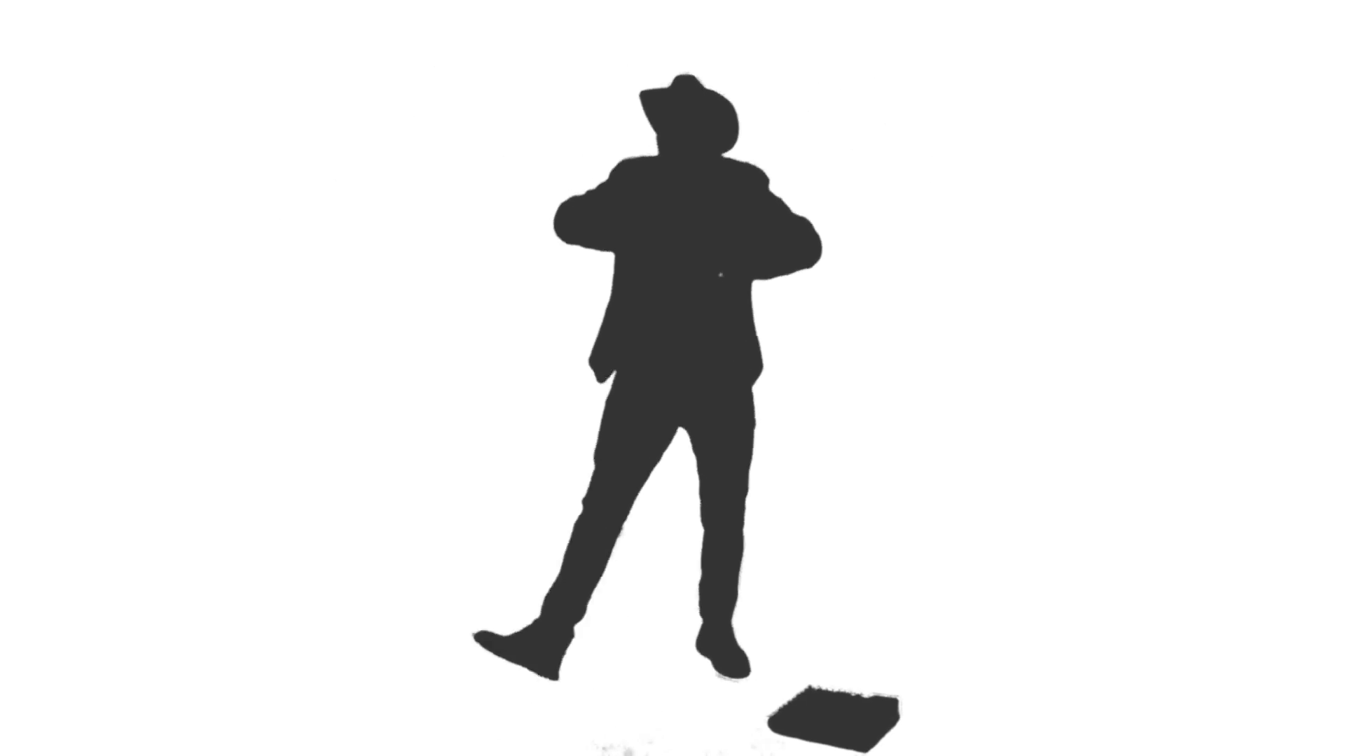 1920x1080 Silhouette Of A Man In A Cowboy Hat Singing And Dancing. Full Hd