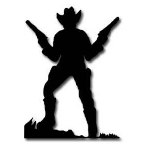300x300 Clipart Picture Of A Cowboy Holding Up Two Guns