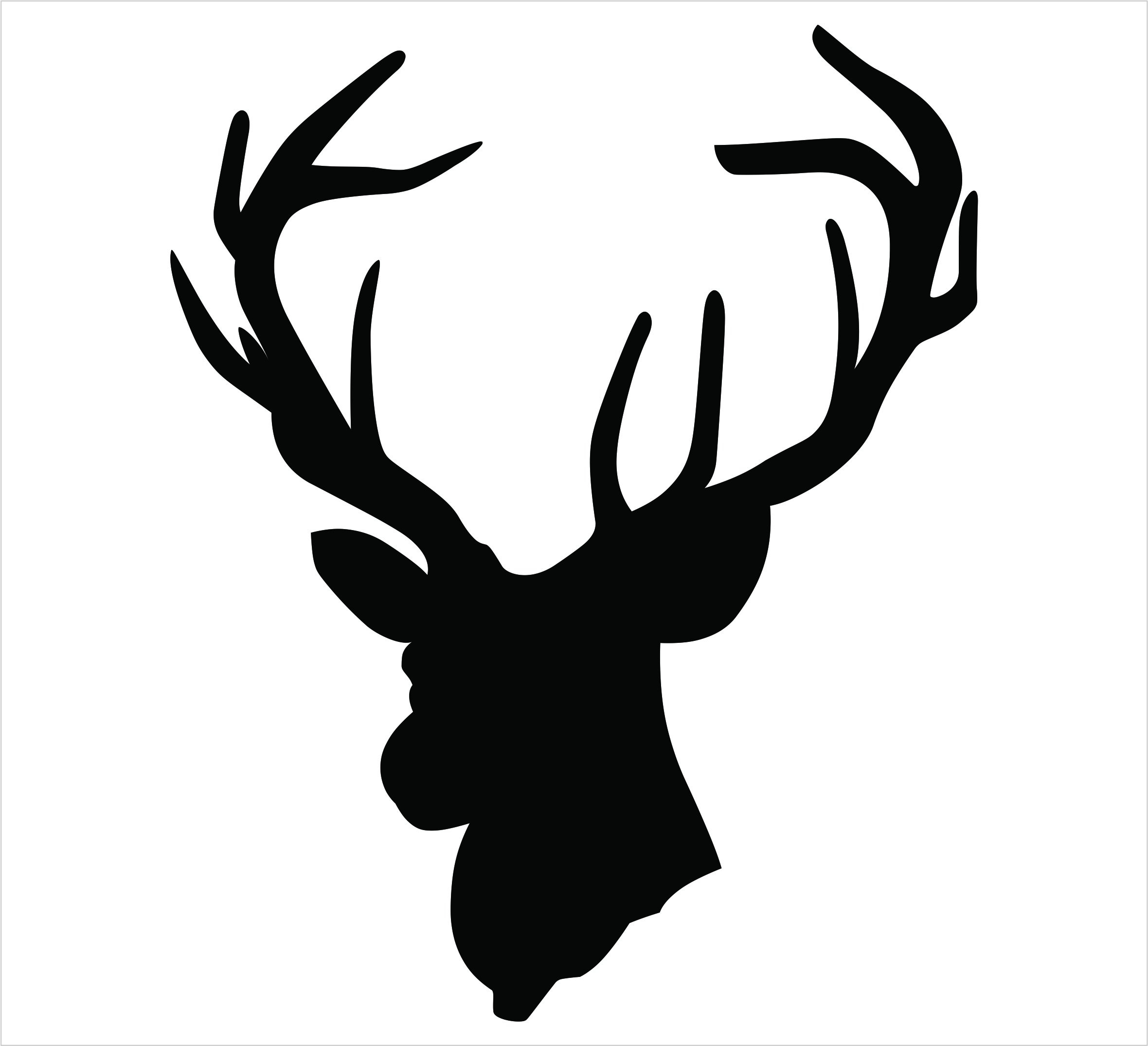 2360x2151 Deer Head Silhouette Clip Art 125281 Brilliant Antlers