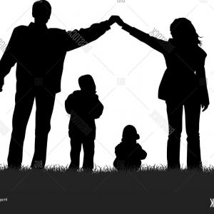 300x300 Photostock Vector Family House Silhouette Vector Arenawp