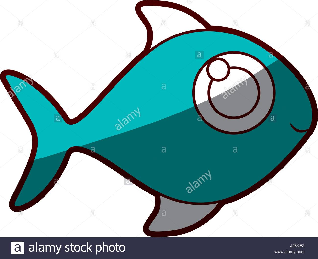 1300x1059 Silhouette Color Blue Of Fish Without Scales Stock Vector Art