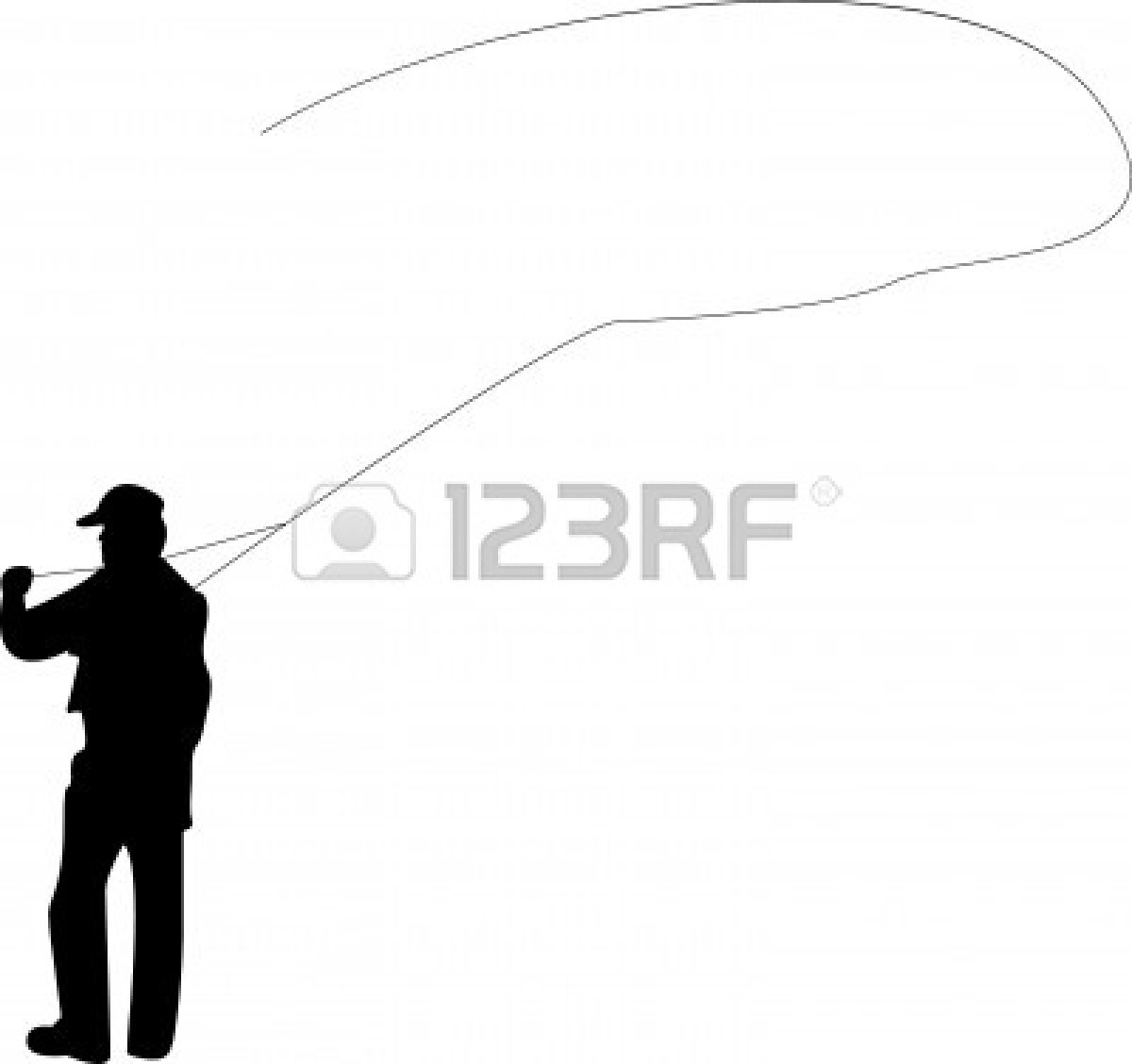 1200x1128 Man Fishing Silhouette Clipart