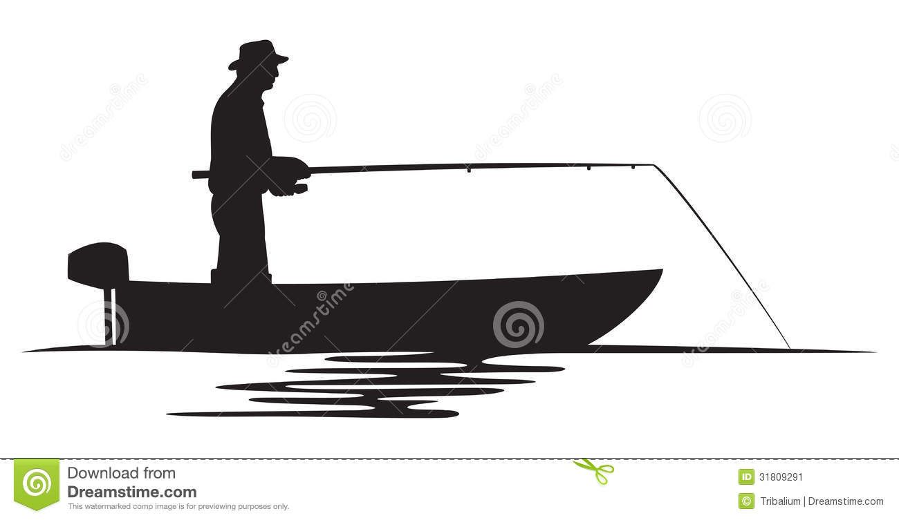 1300x753 Stock Image Fisherman In A Boat Silhouette Cakes