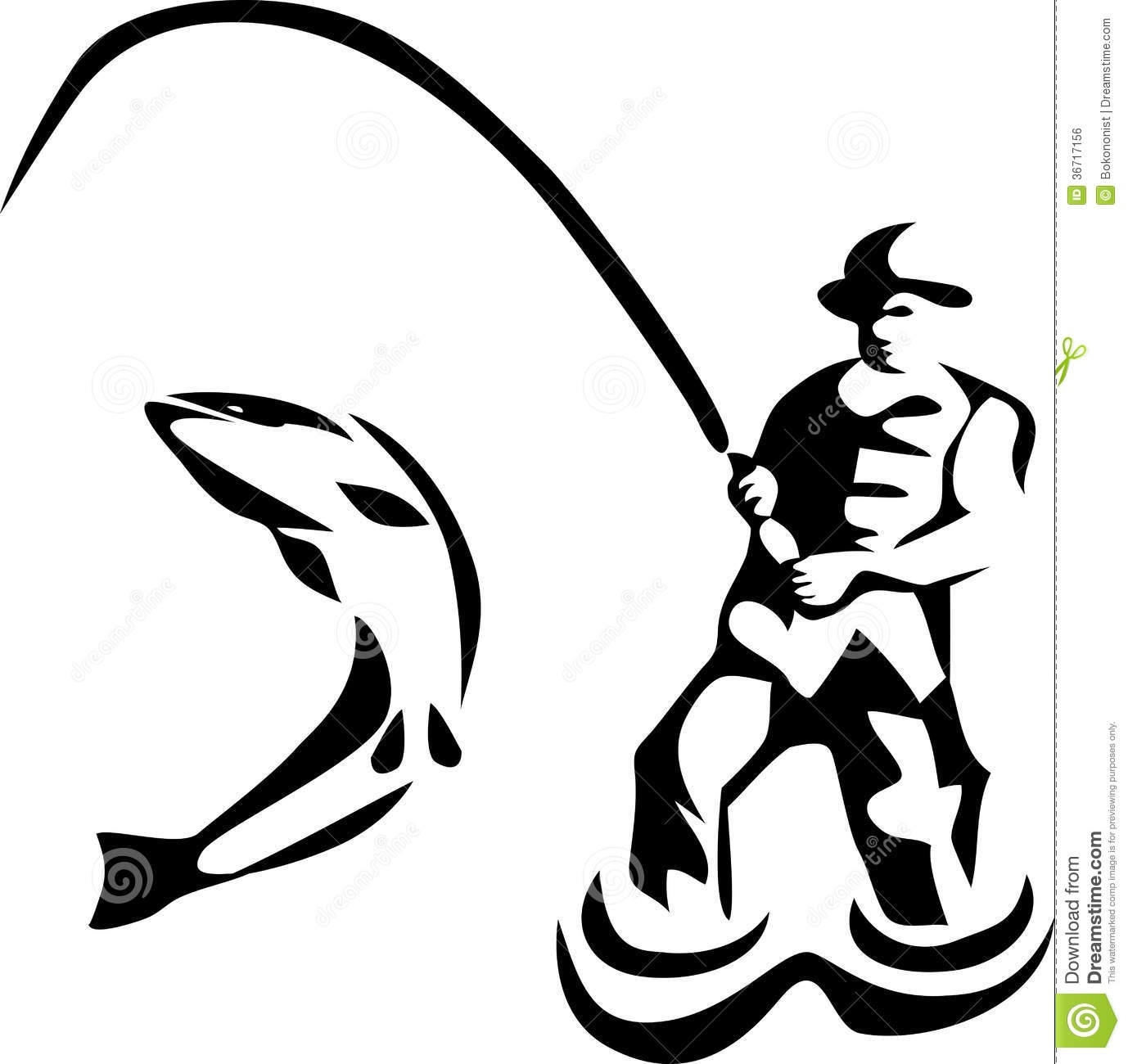 1378x1300 Fisherman Clipart Black And White