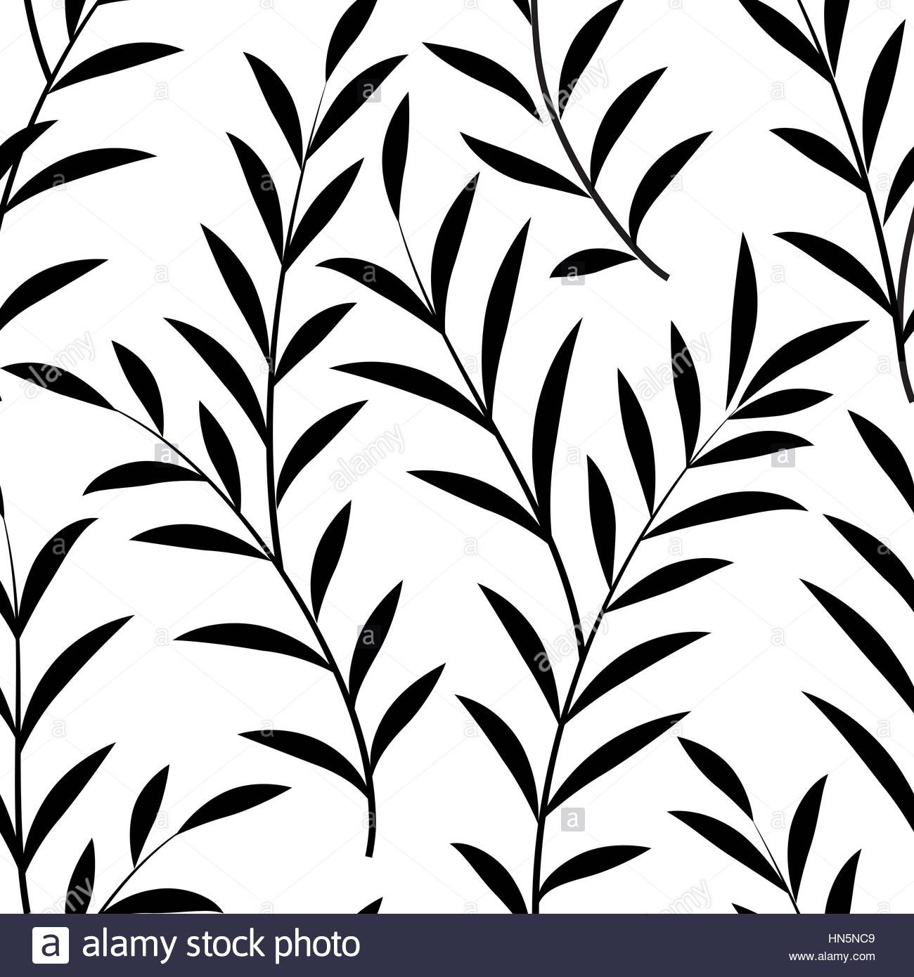 1300x1390 Abstract Floral Pattern Floral Leaves Silhouette Black And White