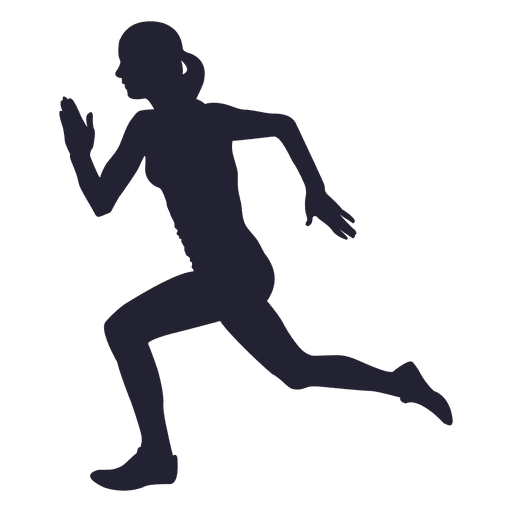 Silhouette Of A Girl Running